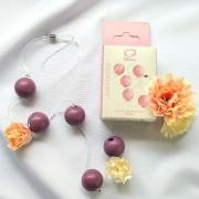 Colar Tailandês com 5 Bolas Pequenas Lilás para Pompoarismo