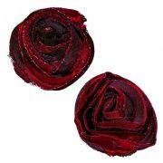 Nipple Pastie Adesivo para Seios Rosa Vermelha com Preto
