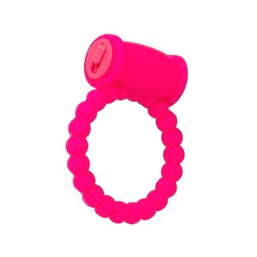 Anel Peniano Vibratório Super Potente Rosa Vibroring Q Toys