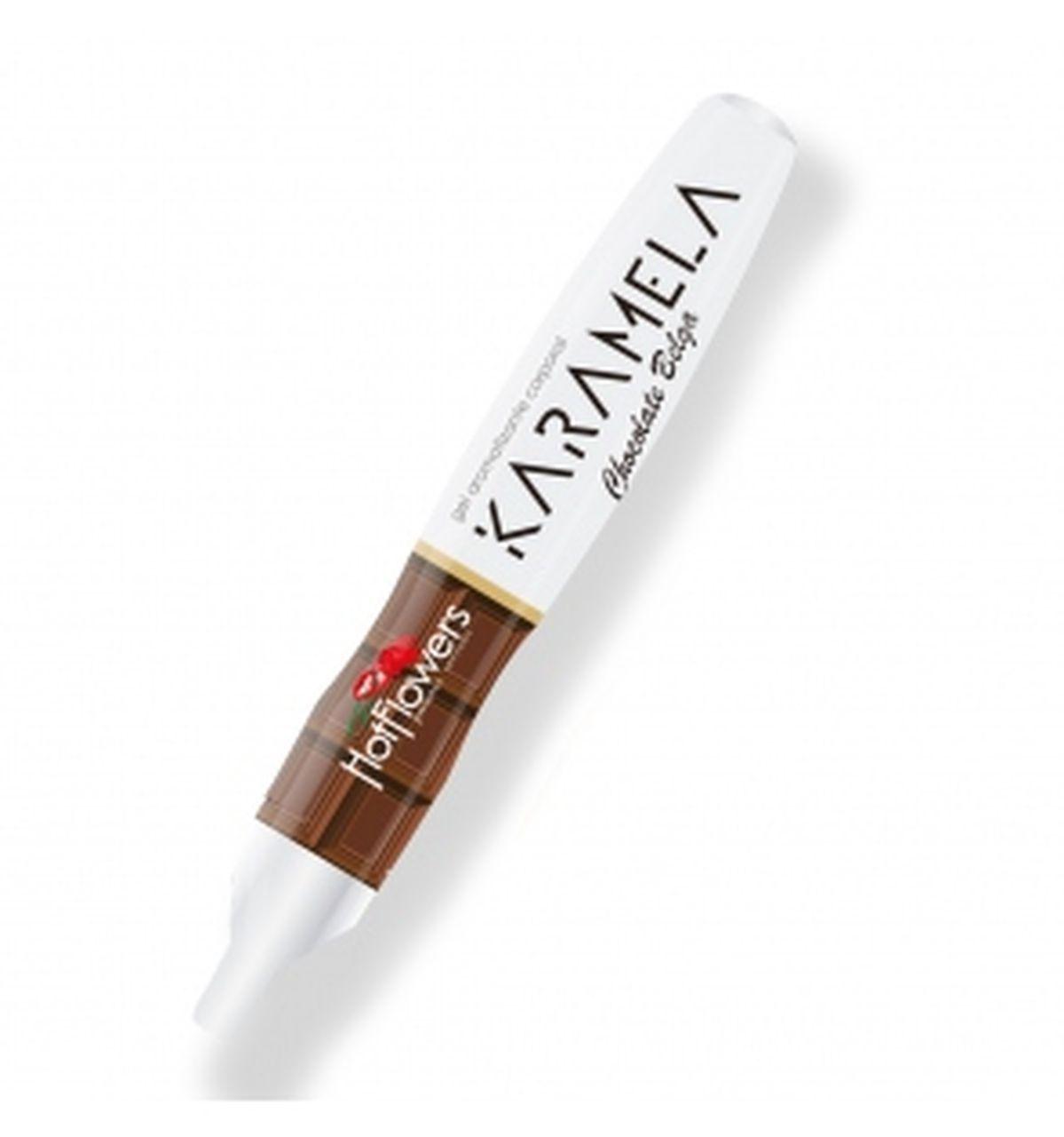 Caneta Beijavel de Chocolate Belga Karamela
