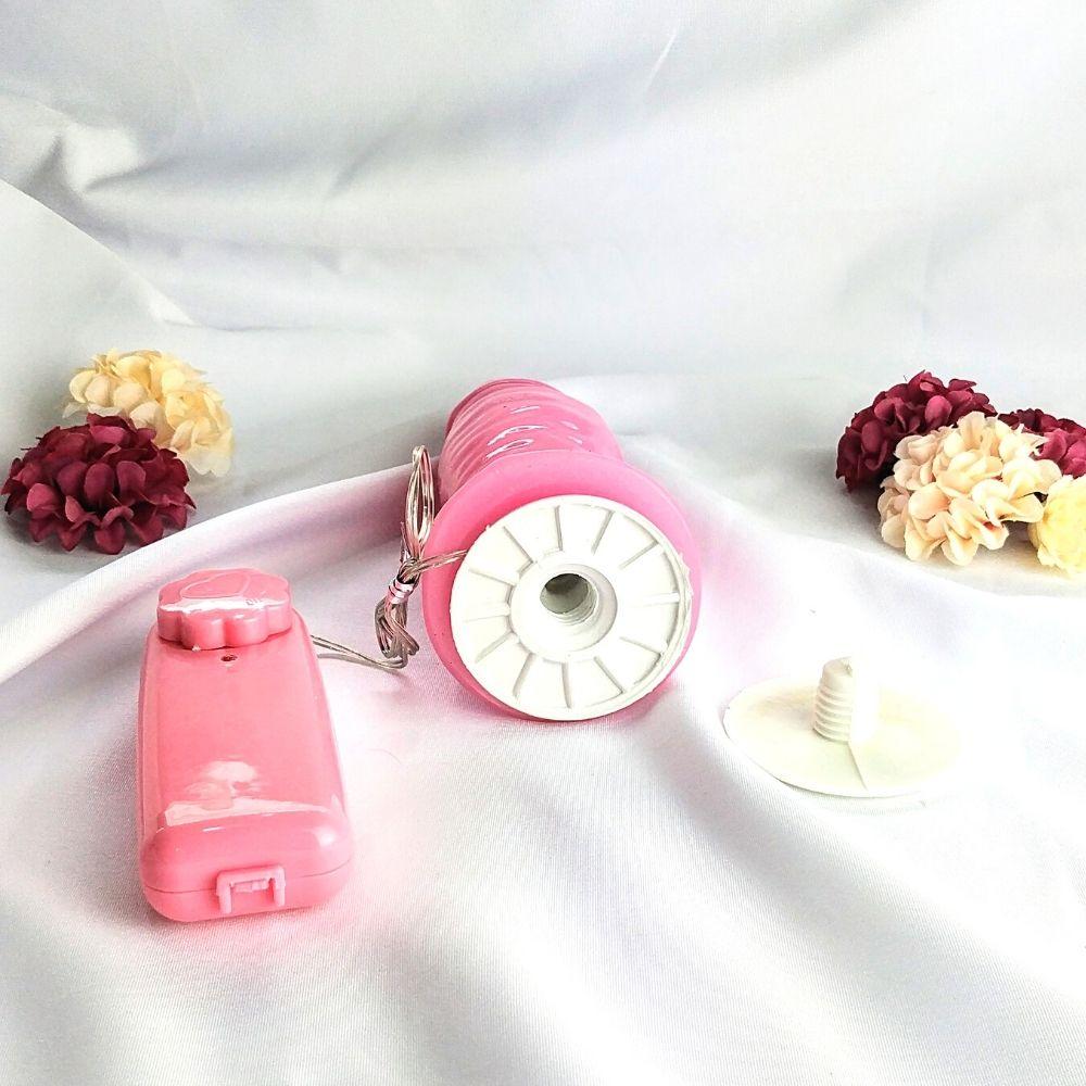 Cinta com Pênis Rosa Perolado com Vibrador 15x4cm