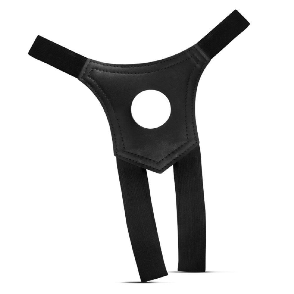 Cinto em Couro Ecológico para Prótese com Orifício de 4,5 cm Strapon