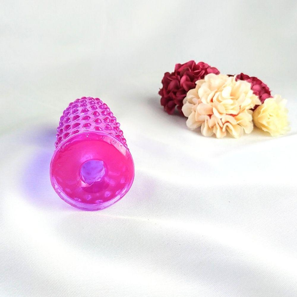 Dedeira Massageadora e Estimuladora com Texturas Spikes Lilás