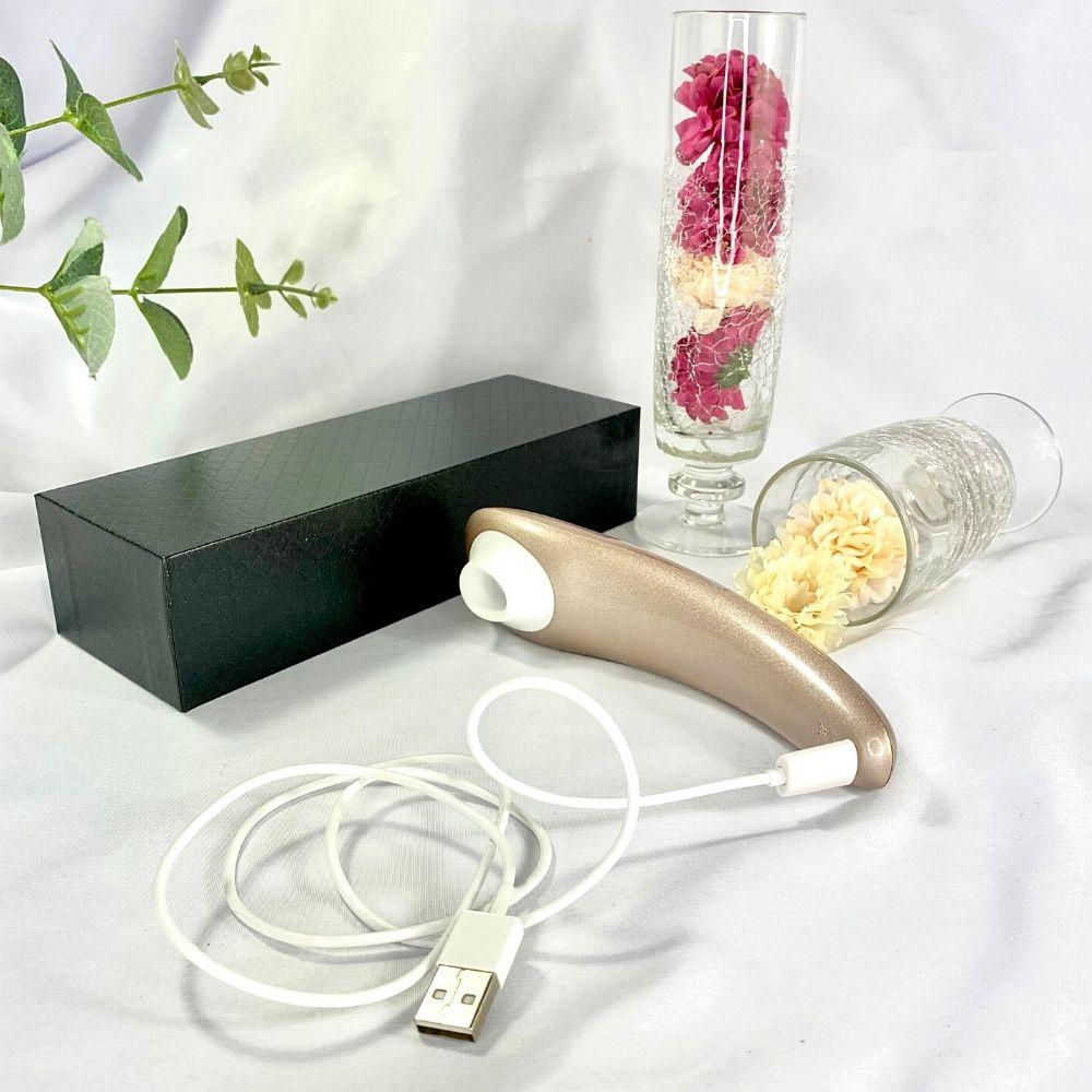 Estimulador de Clitóris com Sucção e Vibração Recarregável Alex S-Hande