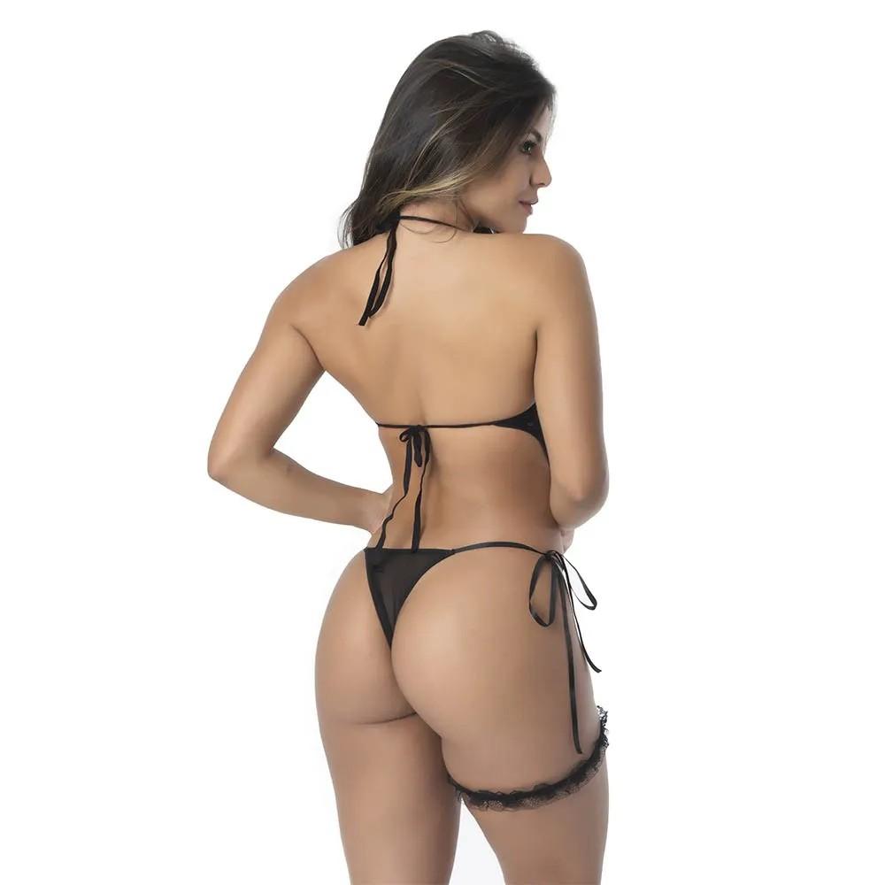 Kit Body Tailandês em Renda com Pérolas para Estimulação e Persex para Coxa