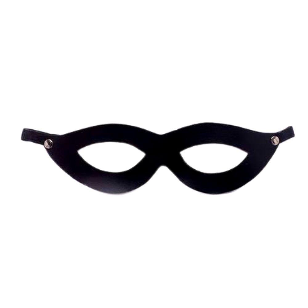 Máscara Tiazinha em Couro Preto