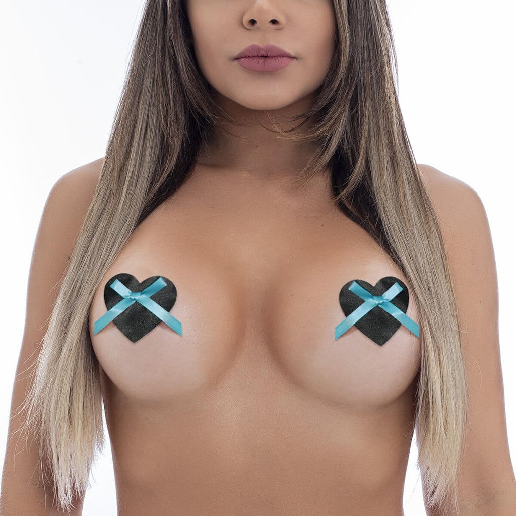 Nipple Pastie Love Adesivo para Seios Coração com Lacinho