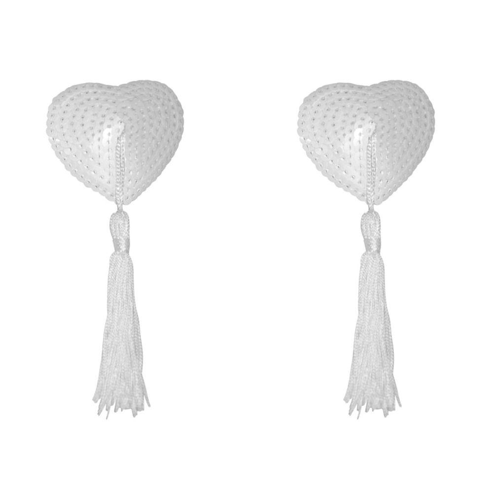Nipple Pastie Bride Adesivo Para Seios Coração com Lantejoulas e Pompom