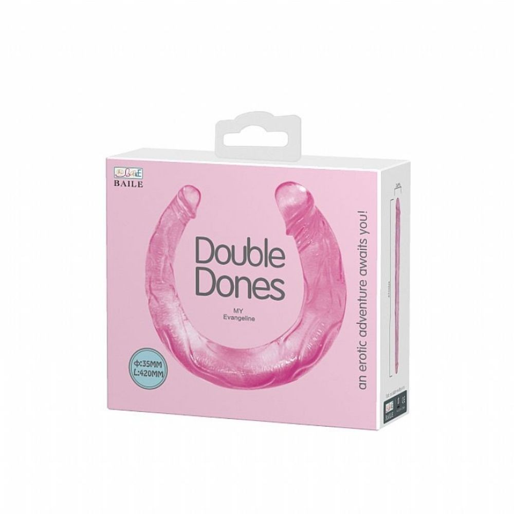 Prótese Pênis Duplo Rosa Double Dones II