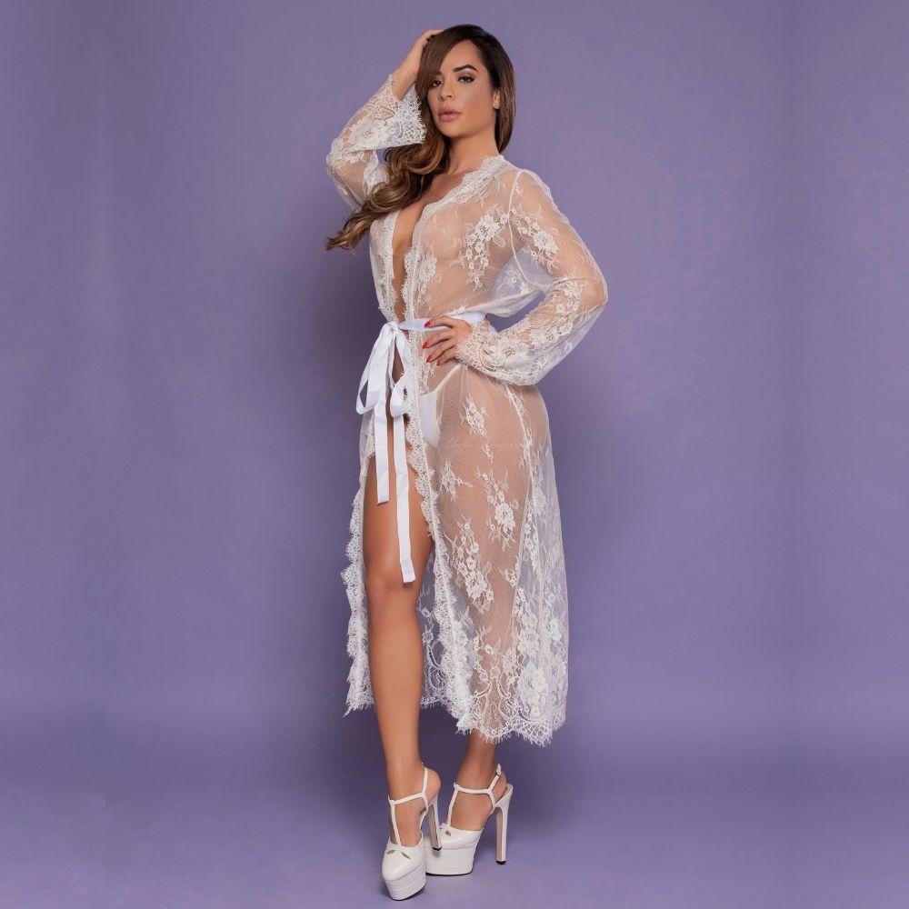Robe Luxo em Renda Sensual