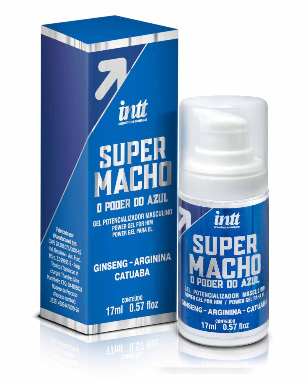 Gel Potencializador de Ereção Masculino Super Macho 17ml Intt