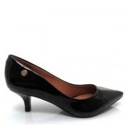 Sapato Scarpin Feminino Salto Baixo Fino Basico Casual Verniz Fosco Trabalho Uniforme Vizzano 1122828