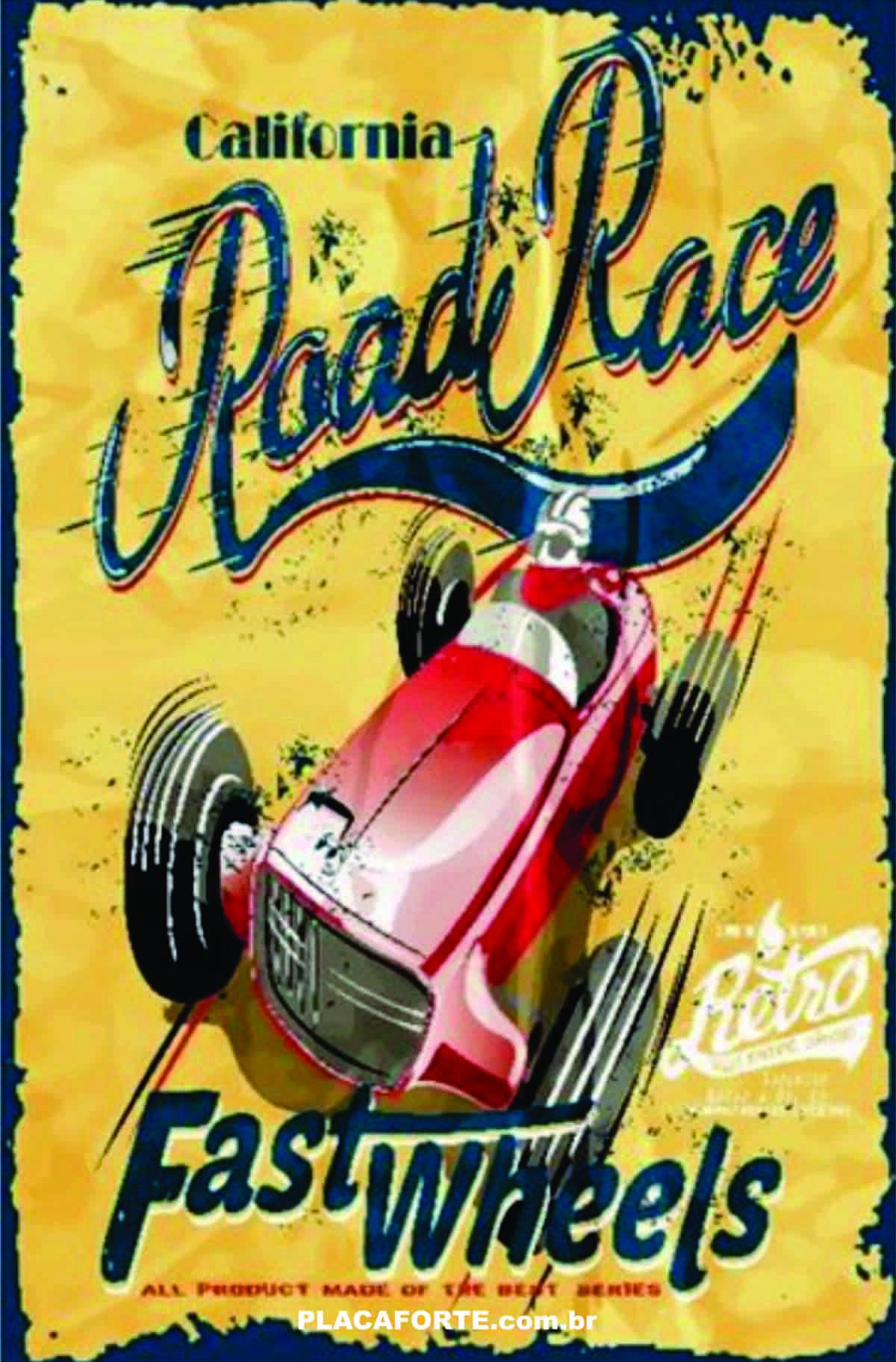 Placa Vintage Road Race F1 Antiga Quadros Decorativos Personalizados Para Decorar Placa Forte Loja Online