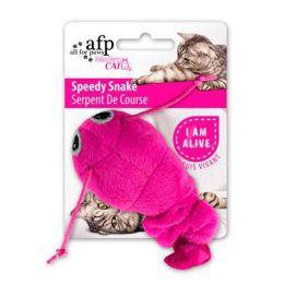 Brinquedo para Gato AFP Serpente de Pelúcia com Vibração Rosa