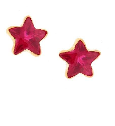 Brinco Estrela 6mm Ouro 18k