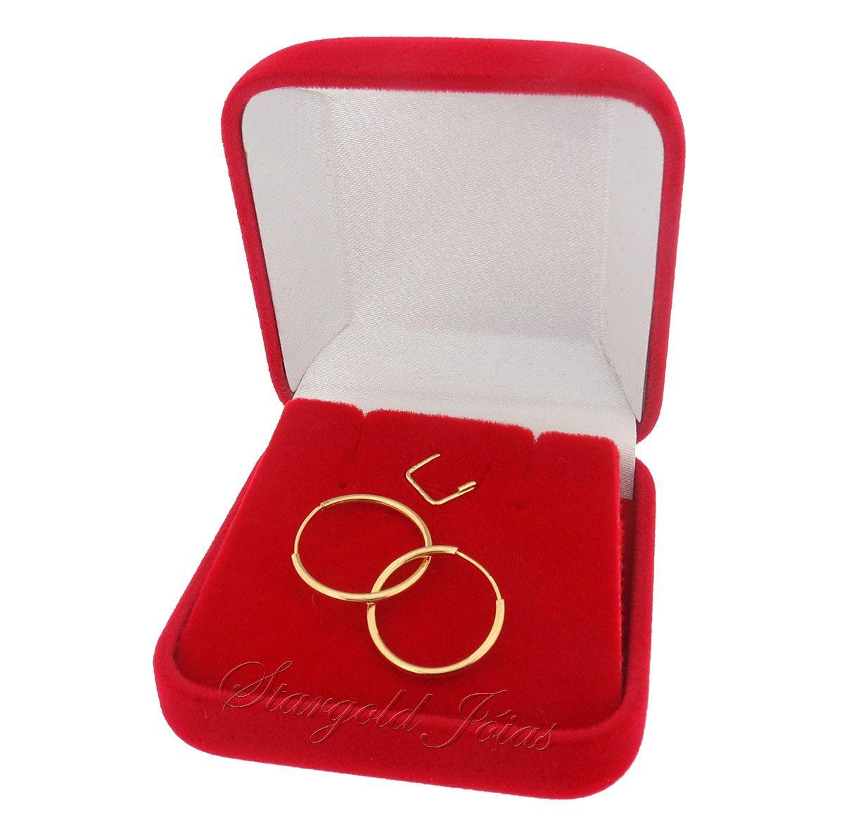 Brinco Argola Redonda 1,8cm Ouro 18k