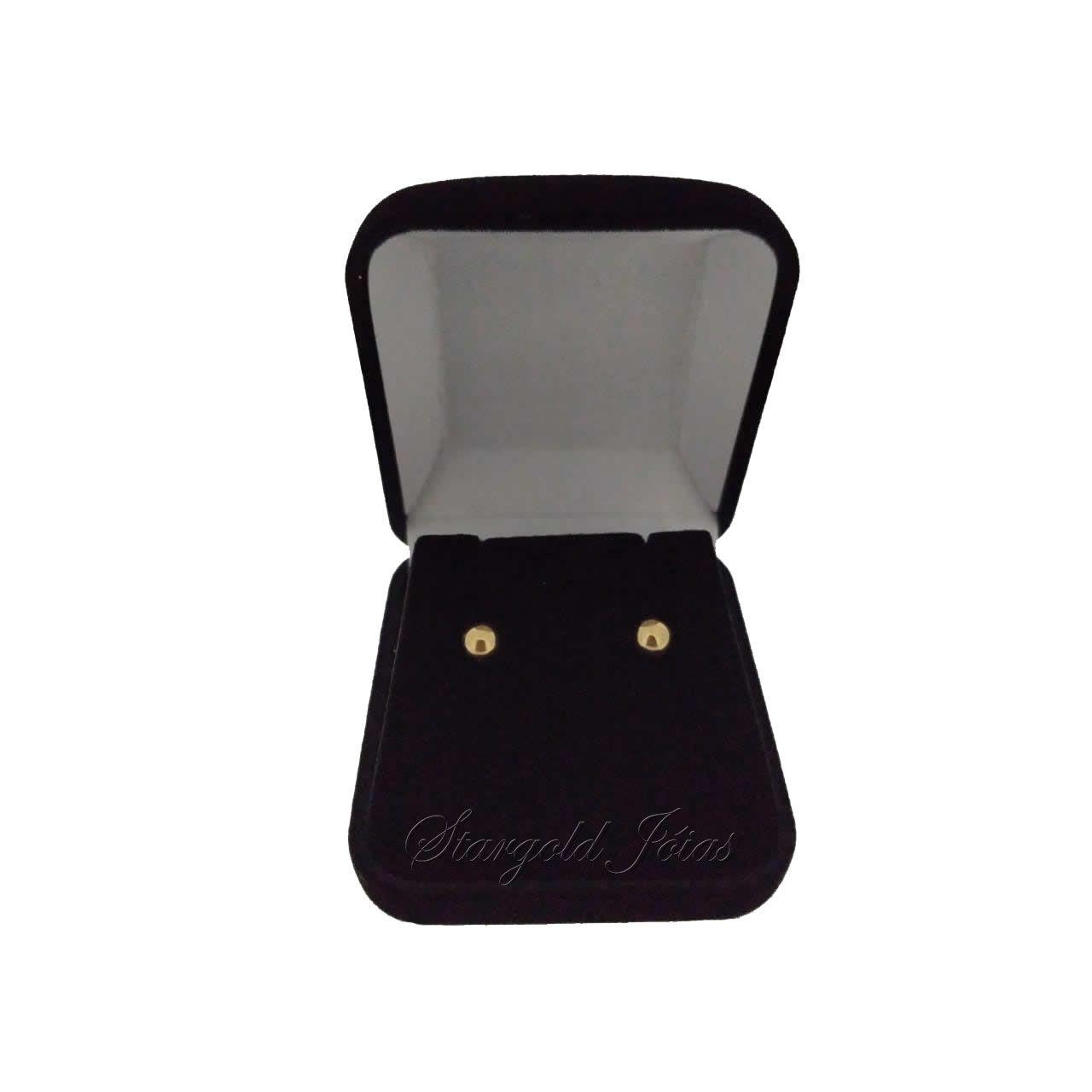 Brinco Bola 3mm + Brinco Bola 5mm Ouro 18k
