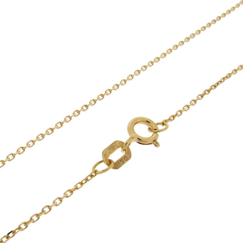 Corrente Cadeado 45cm Ouro 18k