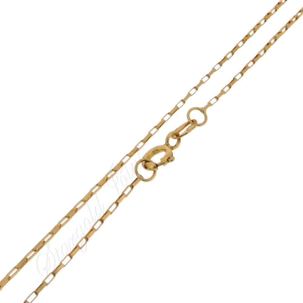 Corrente Cartier Elo Quadrado 45cm Ouro 18k
