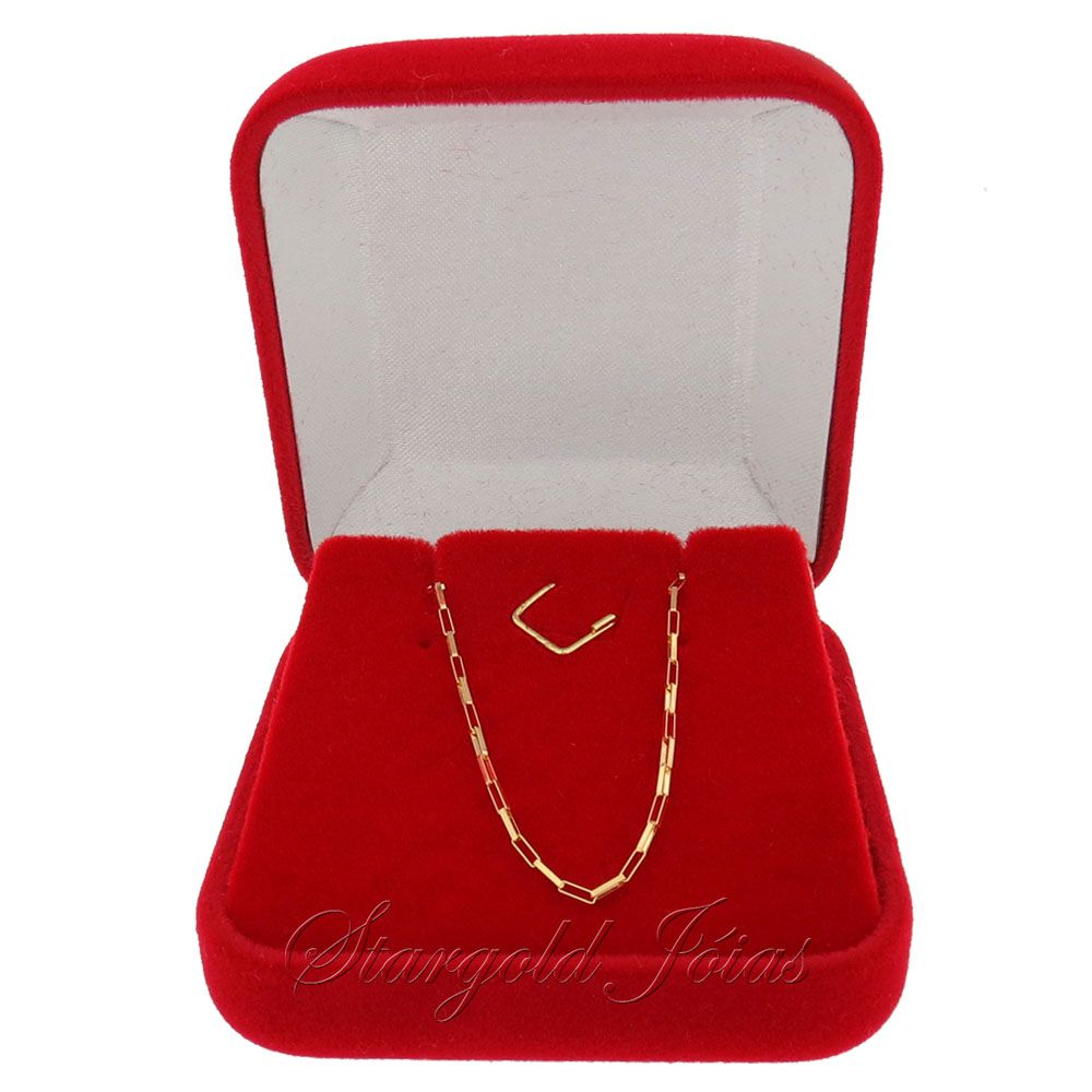Corrente Cartier Elo Quadrado 60cm  Ouro 18k