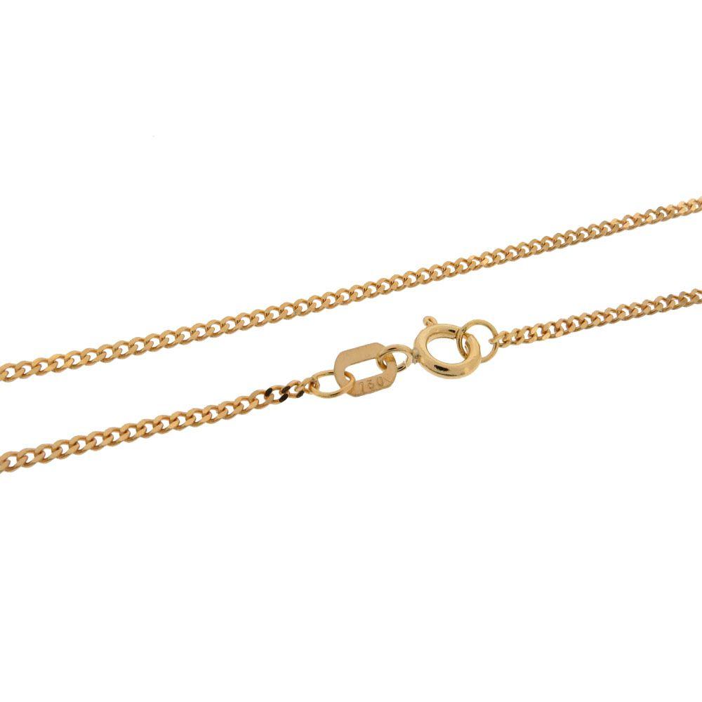 Corrente Groumet Curta 60cm Ouro 18k