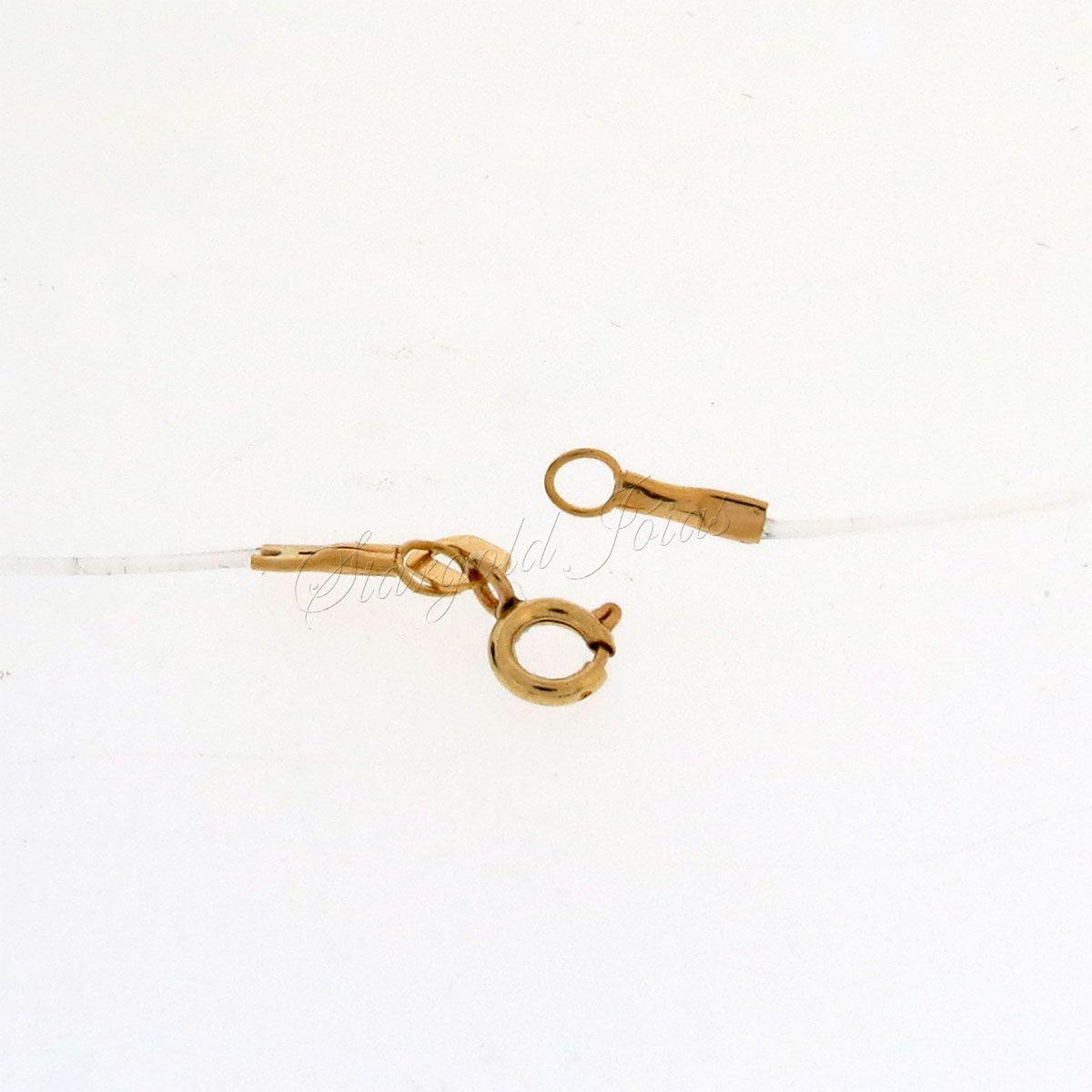 Corrente Nylon Com Ponteiras em Ouro 18k 750