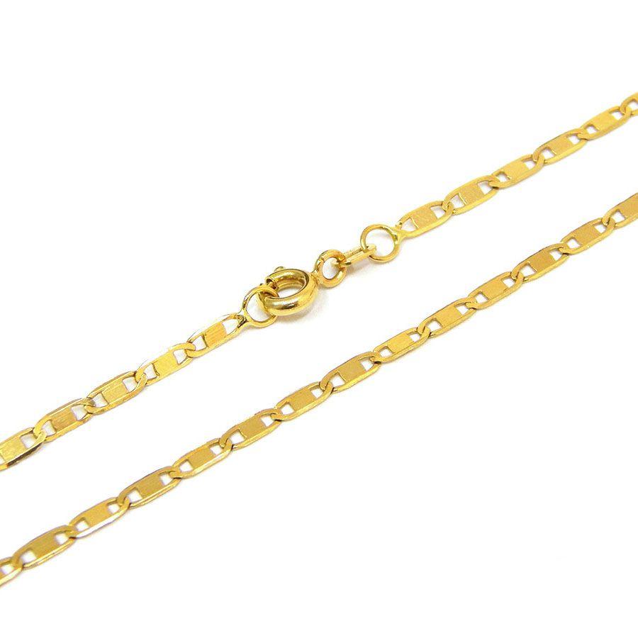 Corrente Piastrine 45cm Ouro 18k