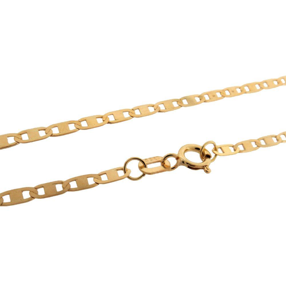 Corrente Piastrine 60cm Ouro 18k