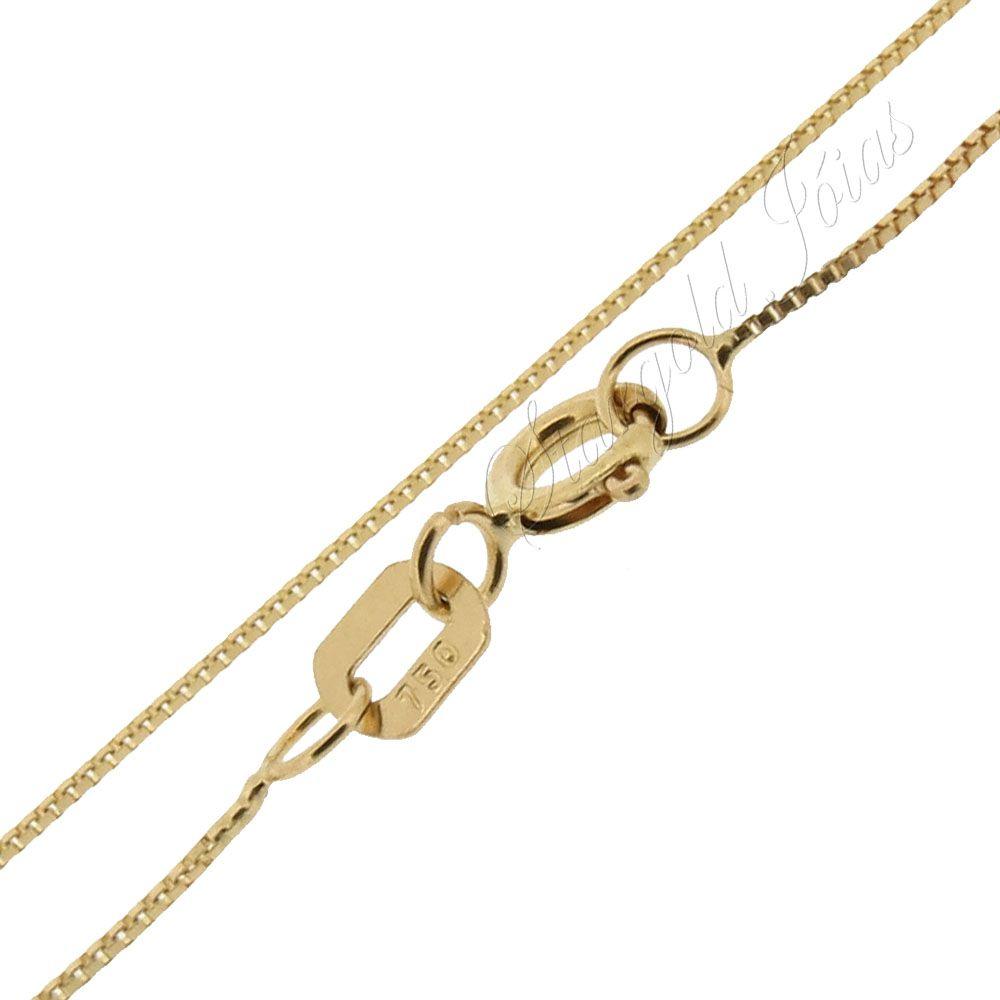 Corrente Veneziana 40cm Ouro 18k