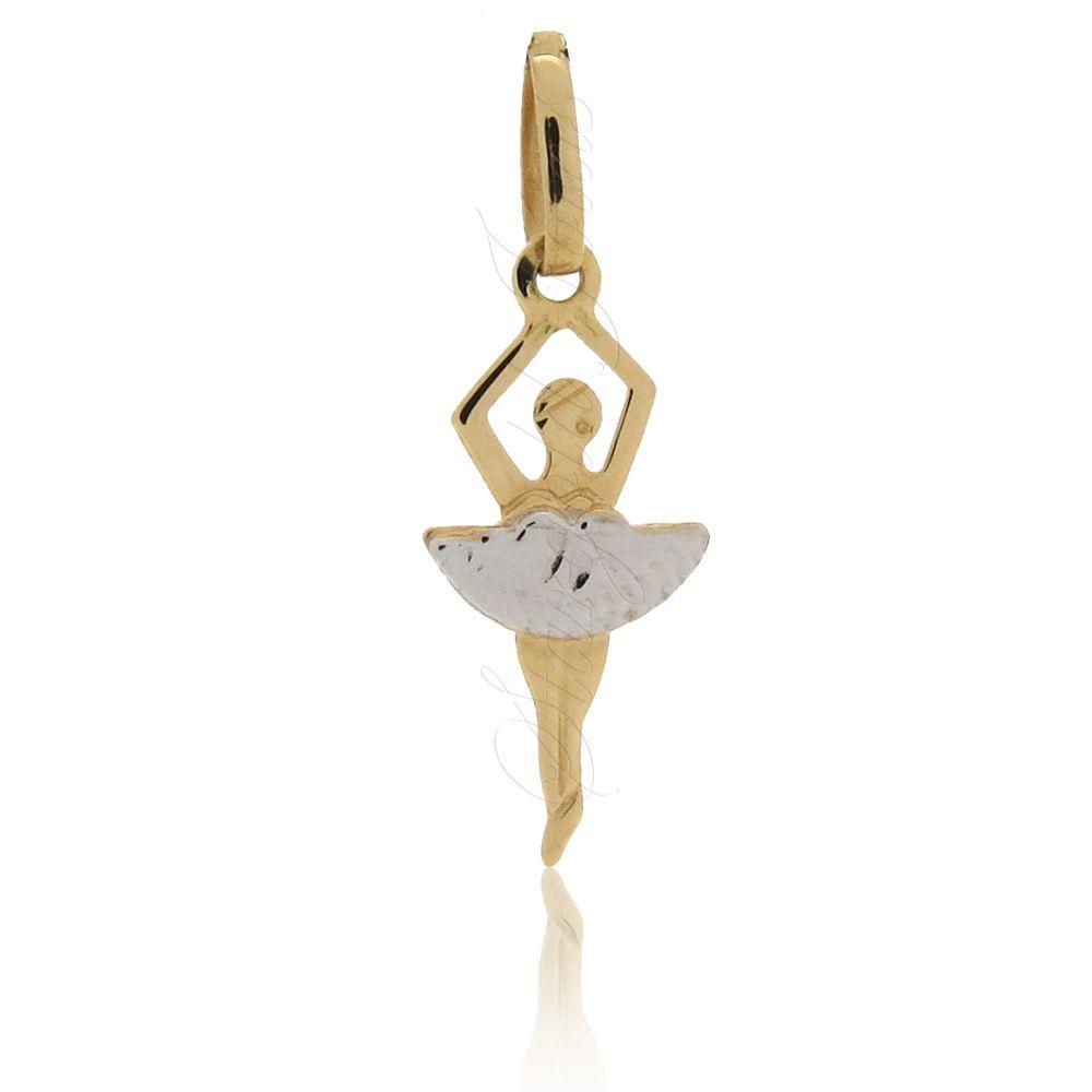 Pingente Bailarina Ouro 18k