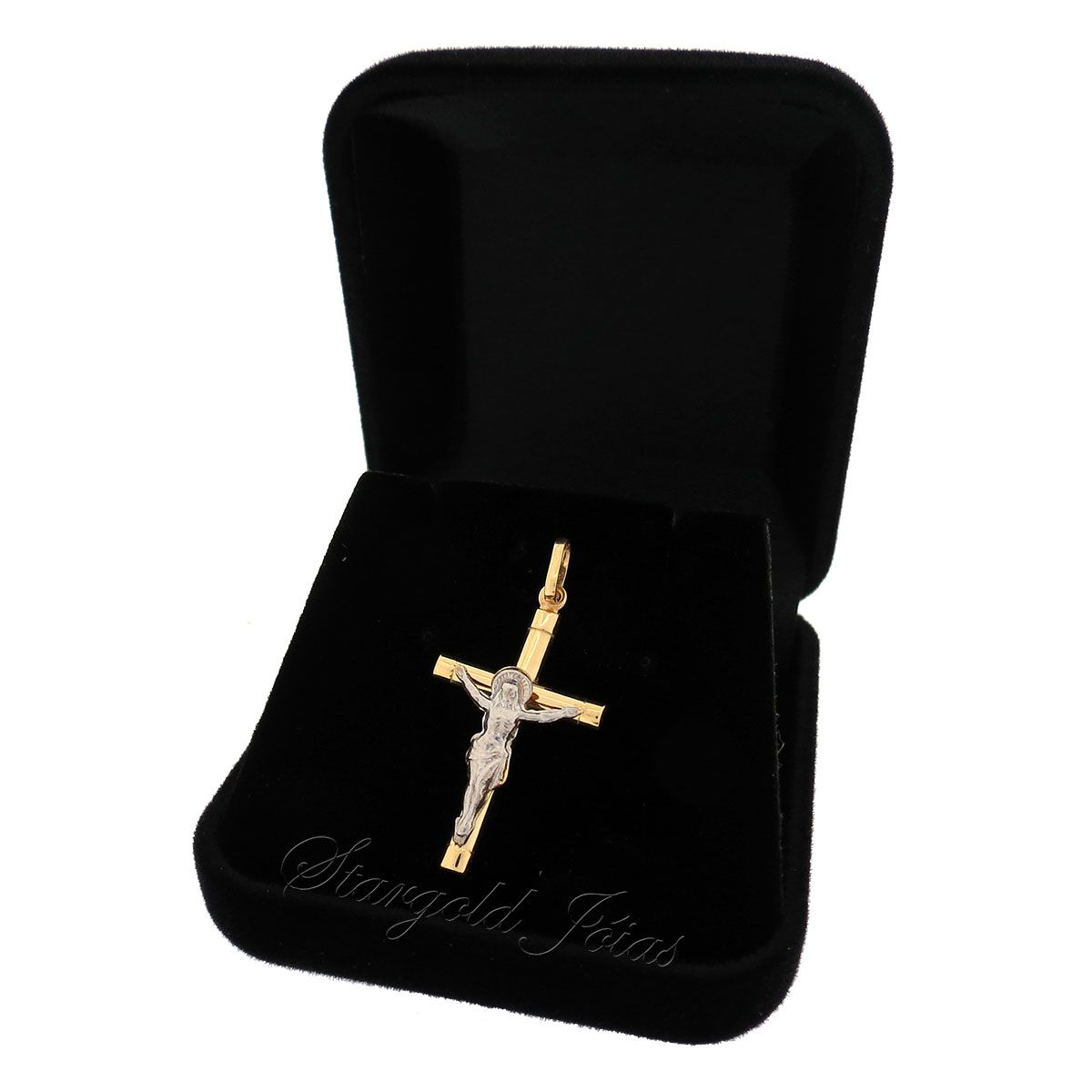 Pingente Crucifixo com Jesus Cristo  Ouro 18k