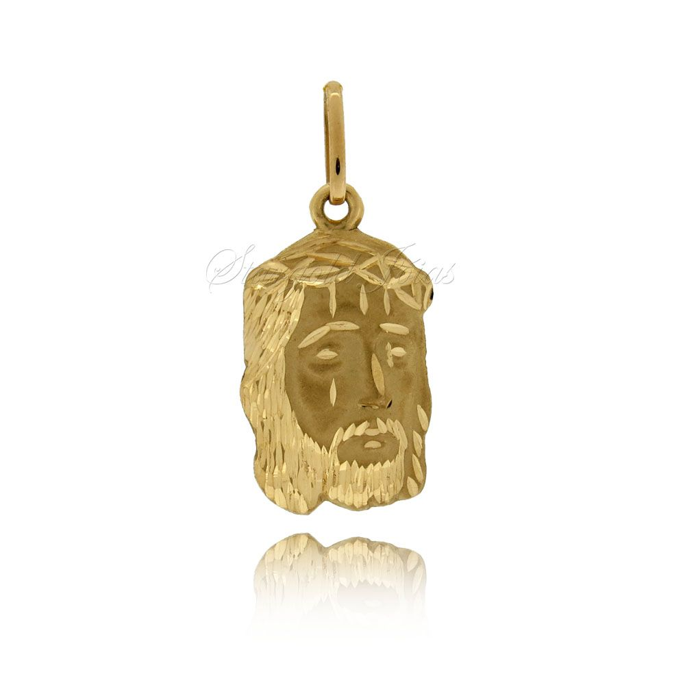 Pingente Face de Jesus Cristo Ouro 18k