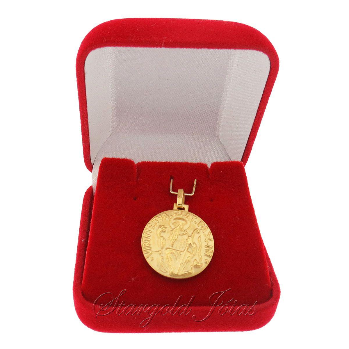 Pingente São Bento Ouro 18k