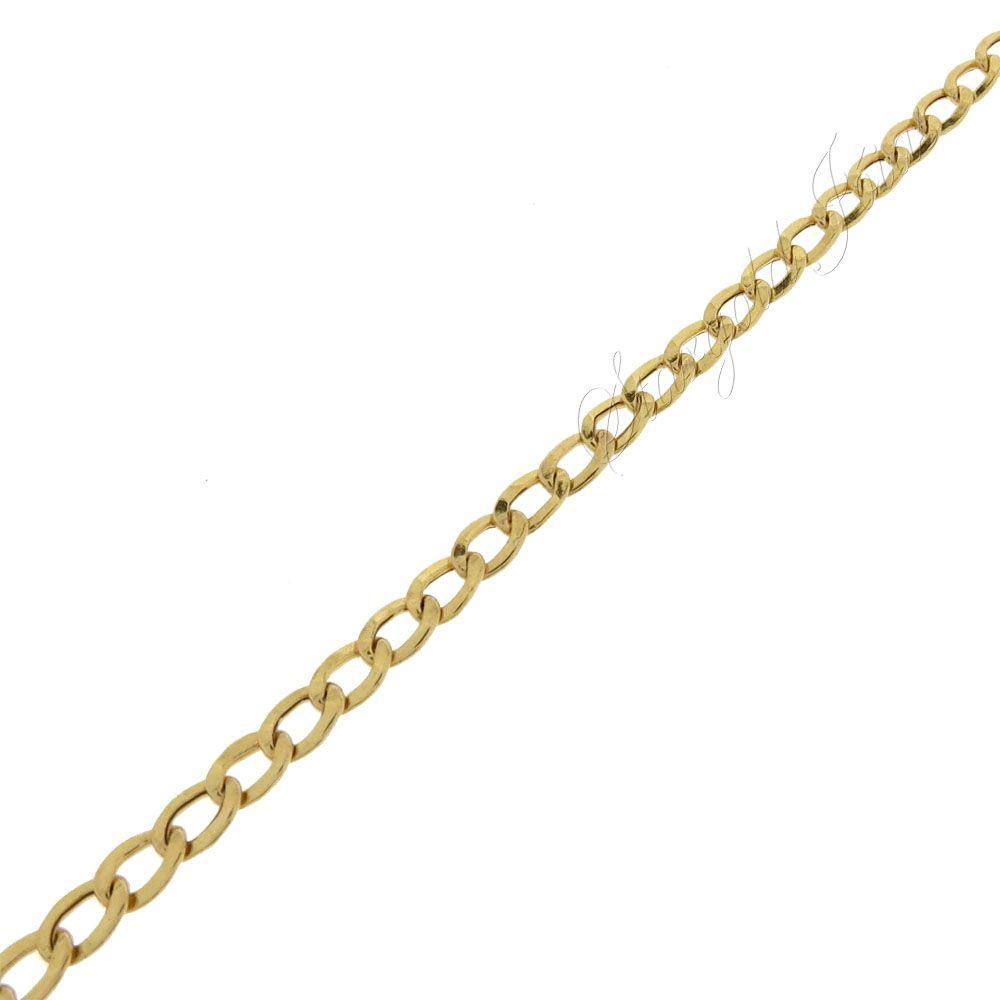 Pulseira Masculina Groumet Curta Ouro 18k