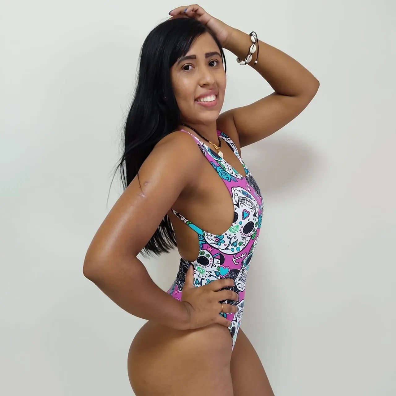 Maiô Fio Dental Caveira Mexicana Ref 60