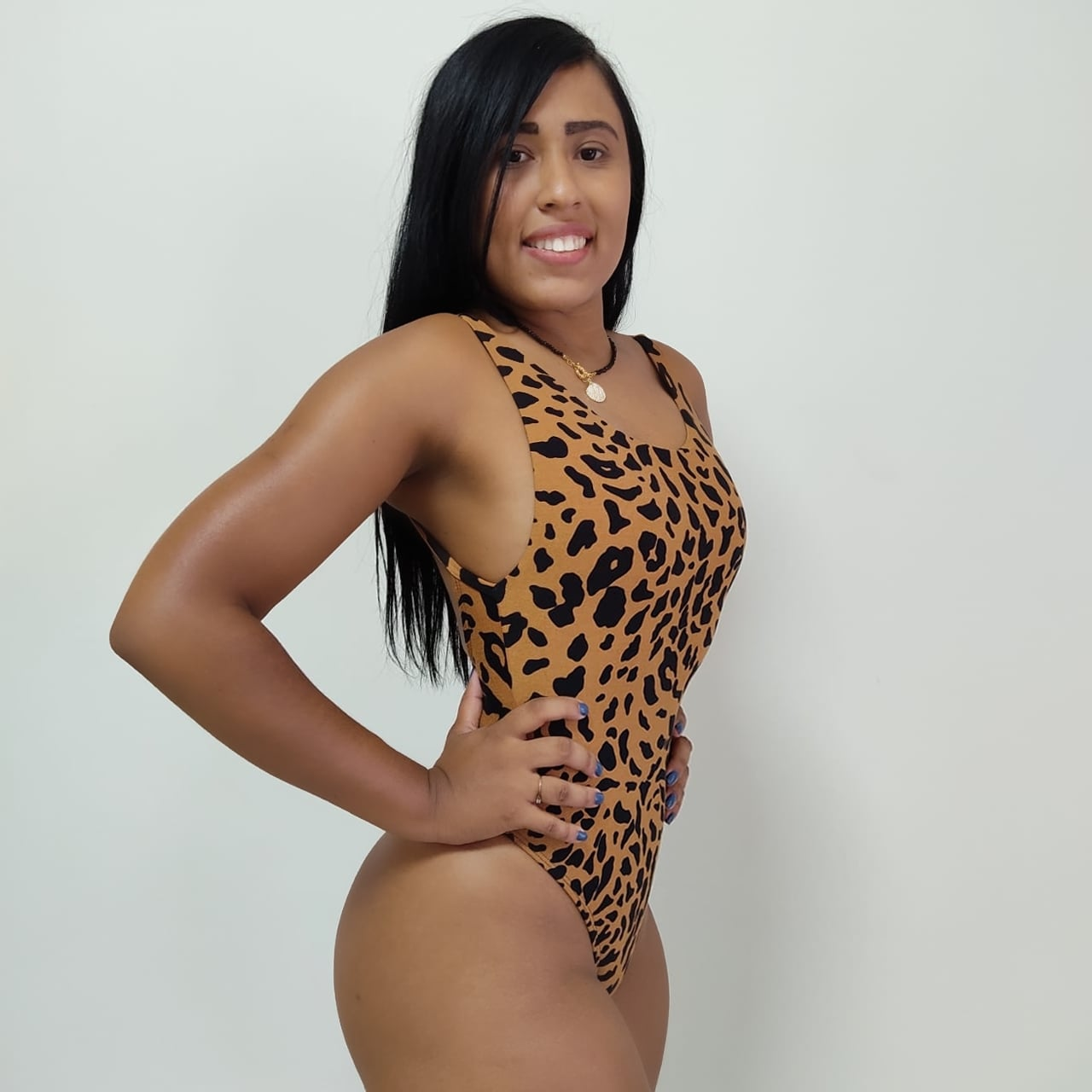 Maiô Fio Dental Estampado Animal Print Ref 57