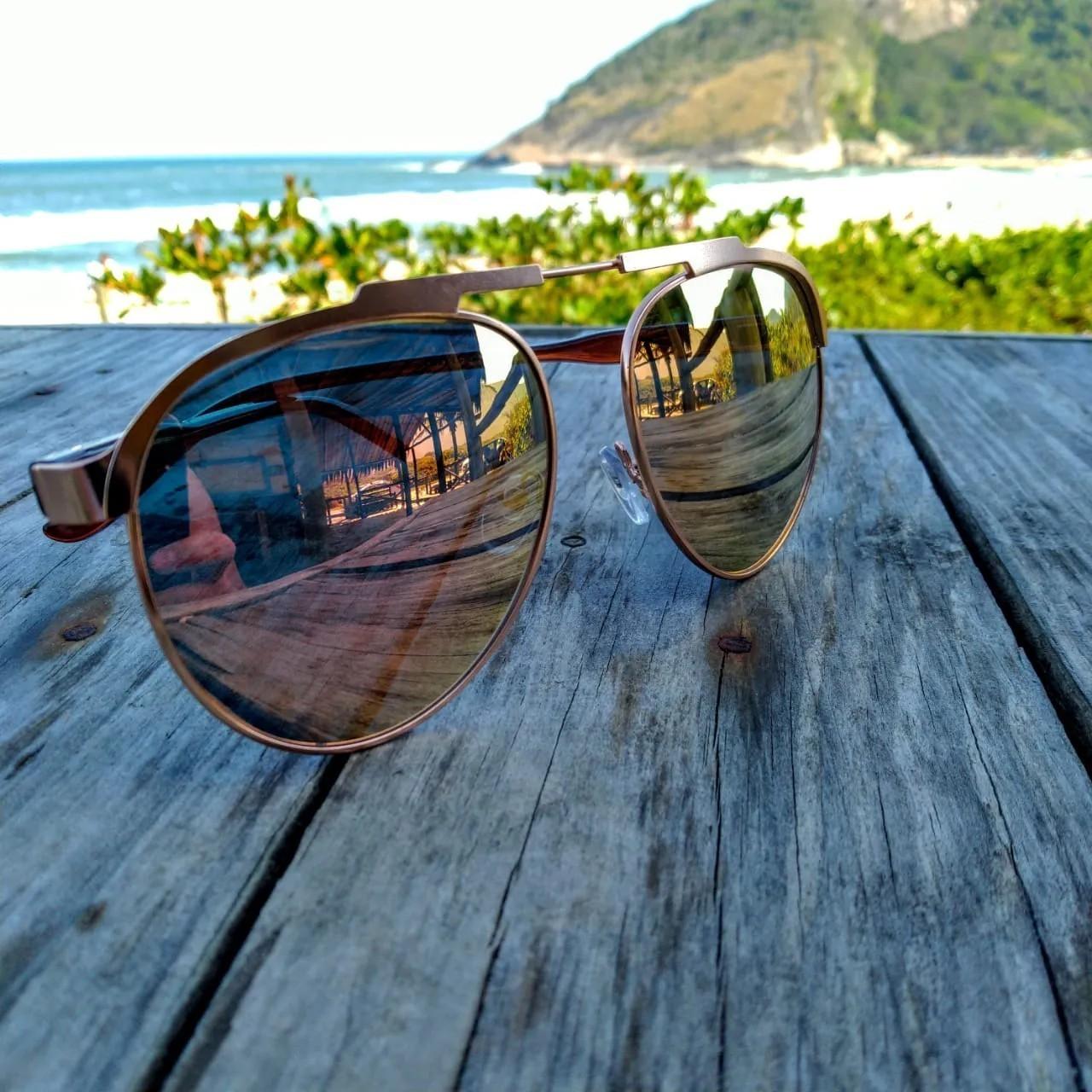 Óculos de Sol Feminino  Espelhado