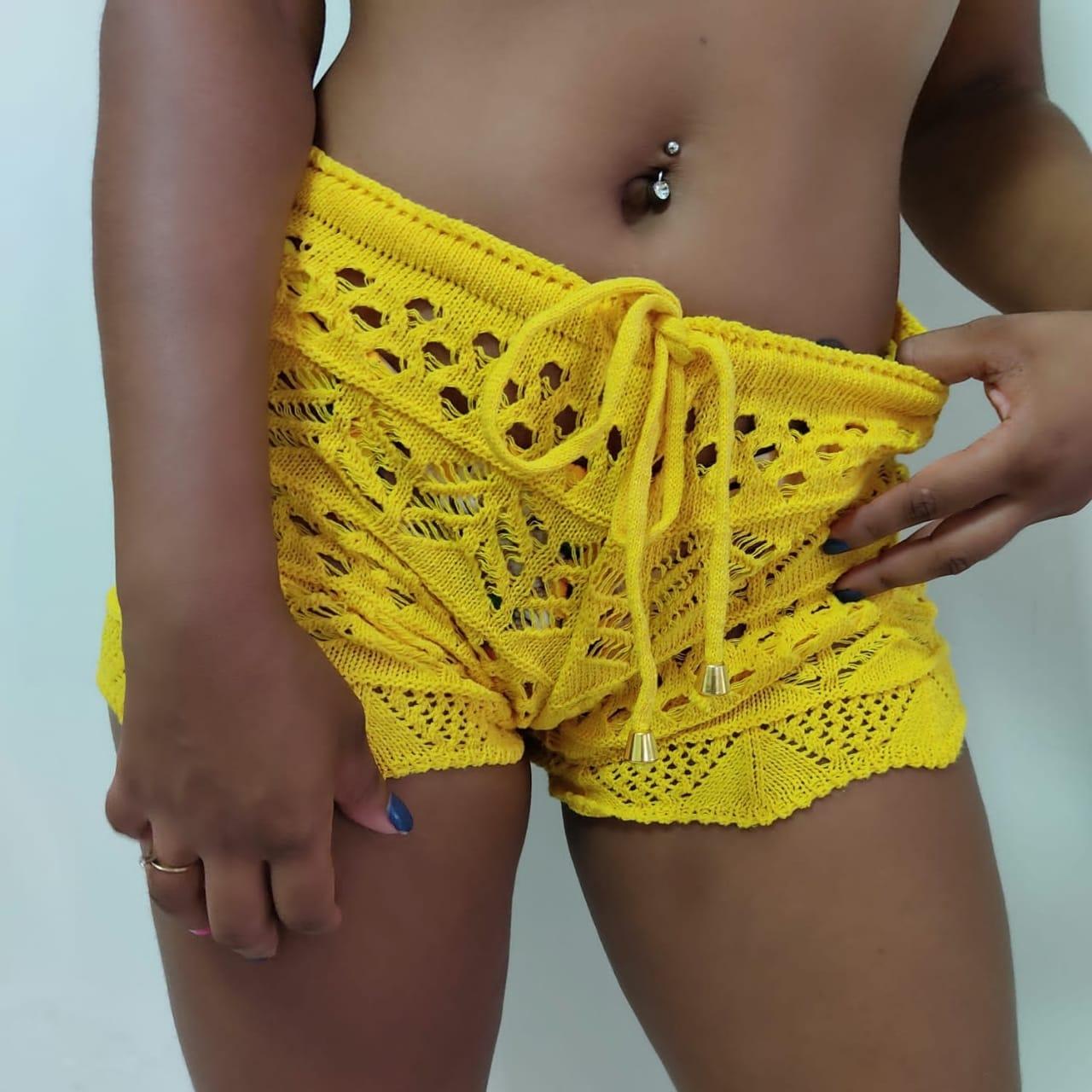 Short de Crochê Verão Cores