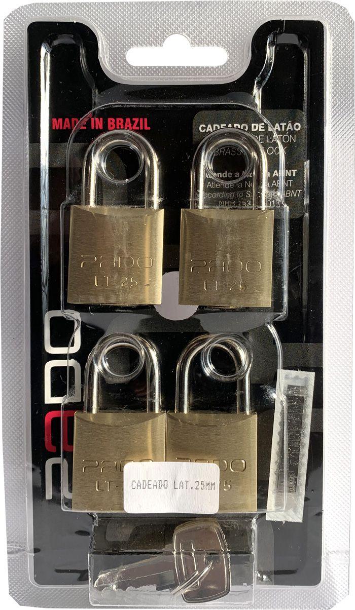 Cadeados Segredos Iguais Pado (4 unidades)