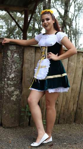 Fantasia Vestido Frida Veludo Preto
