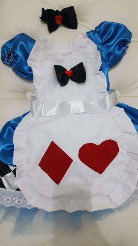 Vestido Alice Bebê Com Avental