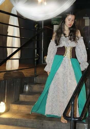 Vestido Medieval Camponesa Tradicional