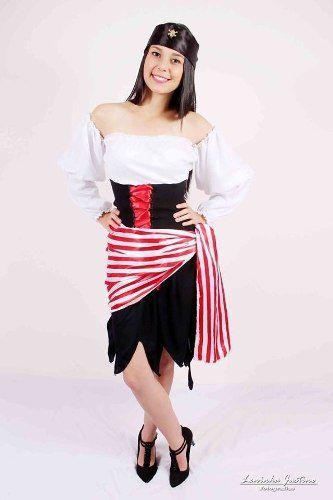 Fantasia Feminina Festa Pirata do Caribe