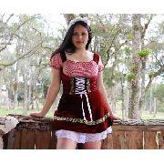 Vestido Feminino frida Alema Veludo bordo