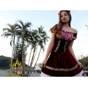 Traje Frida Feminino Alemã Moderno Veludo