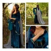 Vestido Medieval Luxuoso Casamento Místico Completo