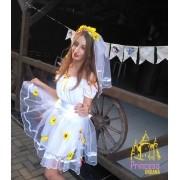 Vestido Noivinha Caipira Tule Princesa Urbana