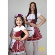 Vestidos Fridas Mãe E Filha Alemãs Veludo