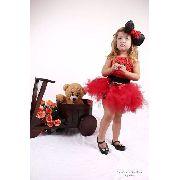 Vestido Infantil Saia Tule Minnie