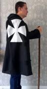 Capa masculina templário medieval renascentista cavaleiro guerreiro túnica retrô Halloween cosplay roupão